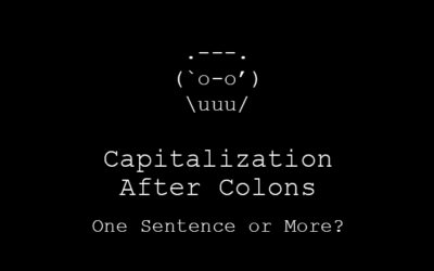 Capitalization After Colons: One Sentence or More?