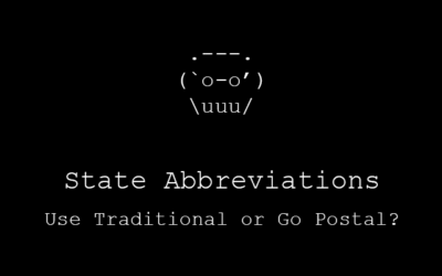State Abbreviations: Use Traditional or Go Postal?